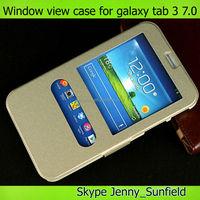 Tablet case cover slim leather flip smart cover for samsung galaxy tab 3 7.0 T210 T211 ,for samsung galaxy tab 3 smart cover