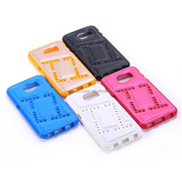 Hollow TPU+PU Phone Case For Samsung Galalxy S6 Cover