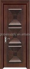 PVC MDF wood door panel insert glass door for bedrooms