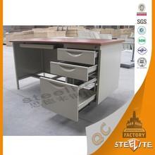2015 Hot Sale Melamine board Metal table / Metal Desk / Steel office desk