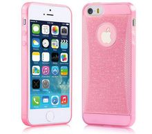Shining Glitter Tpu Case for iPhone 5 5G 5s cases Mobile Phone Bright Pink for iPhone Back Cover Shell Case
