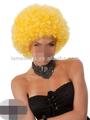 Afro partido peluca del traje( amarillo) directa de la fábrica para ventas al por mayor de halloween pelucas