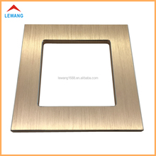 custom made metal electrical touch light wall switch plate,rose gold aluminum alloy switch cover