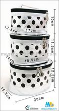 Polka Dots 2015 China supplier Black and White fashion designer cosmetic bag
