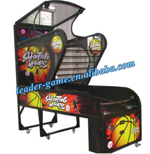 Crazy shooting coin operated electronic basketball game