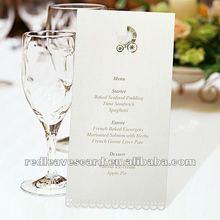 hotel/banquet/wedding table use handmade creative design menu card