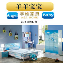 2015 alibaba new kids bed with desk and wardrobe