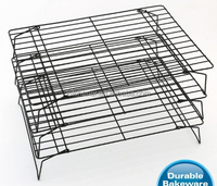 FDA Approval 3 Tier Non-stick Stackable Wire Cake Baking Cooling Rack baking tool