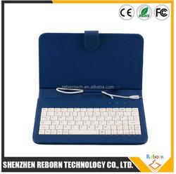 7 Inch Tablet Keyboard Case Mini Micro USB 2.0 Keyboard Leather Case Micro USB Tablet Keyboard Case