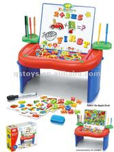 Folding apple learning desk with writing board and magnetic toys