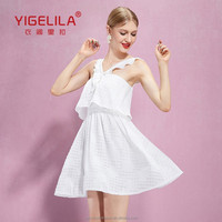 YIGELILA Brand 61065 Fashion Cutting Sexy White Strap Petite Womens Dresses Wholesale
