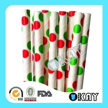 Wholesale Red Dot Paper Straws Crafts For Parties ,Craft,Baking