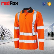 reflective safety 92% polyester 8% spandex mens t shirt
