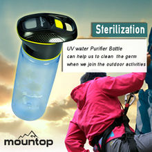 750ml BPA free plastic water bottle with UV sterilizer manufacturer factory provide