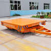 KPD-10t motorized electric box steel transfer trailer with rail for heavy industry