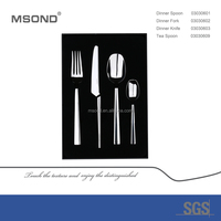 high quality MSOND brand Peakedness set the christmas promotional gift cutlery set stainless steel with box