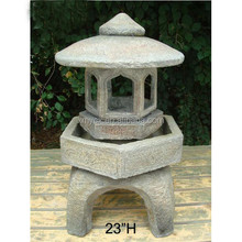 "23""H outdoor garden decoration fusion pagoda"