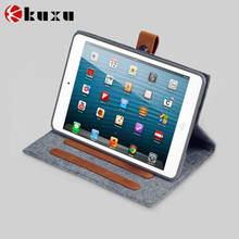 Premium felt genuine leather cover for iPad mini