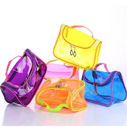 Korean style candy color mini-trade transparent cosmetic bag plastic lady portable storage make up bag organizer wholesale China