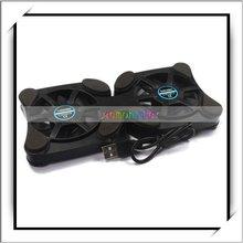 Octopus Shape Laptop USB Double Cooling Fans Cooler Pad Black