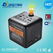 Hot new 600TVL CCD photo frame room mini hidden cctv camera hidden clock microphone(ALC-DVR32NWF)