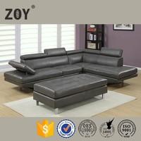Modern Leather Living Room Corner Sofa Home Furniture,l shape sofa cover For Living Room Zoy-97820