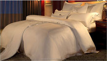 solid dyed white and grey and red color polyester bed sheet pillowcase fitted sheet set for home and hotel