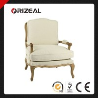 Antique Bergere Wood Chair, Classic High Back Wood Chair (OZ-SW-005)