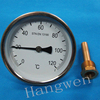 100mm Industrial bimetal thermometer with brass thermowell