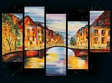 group oil paintings landscape