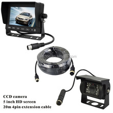 5 inch monitor trailer/bus/truck camera system for vehicles security