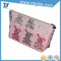 New Style Foldable Cute Dot Cosmetic Pouch For Travel Hanging Toiletry Bag