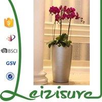 elegant round plastic pots for outdoor lighting ceramic plastic bright colored flower pot