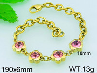 Kalen hot free syria 24kt gold murano bracelet