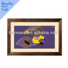 Black frame cartoon basketball figure Framed Giclee Print