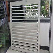 aluminum profile vertical aluminum louvres (louvered) window frames swing shutter