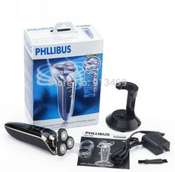 New 2015 PHLLIBUS Triple Blade 3D Intelligent Shaving Electric Waterproof Shaver Rechargeable Razor Universal Voltage