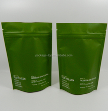 customized label green printed eco-friendly tea bag packing