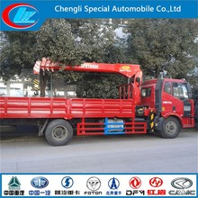 Factory direct crane mounted truck FAW 4x2 mobile telescopic crane