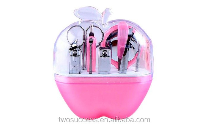 2016 wholesale cheap promotion gift 9pcsset Apple Shape Girls Personalized Cute Manicure Set (2).jpg