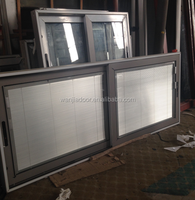 blinds inside for aluminum double glass window