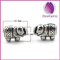 12.3x8.2mm thai silver elephant spacer beads jewerly finding