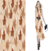 China supplier Printed Pure Silk Chiffon Fabric For Prom Dress