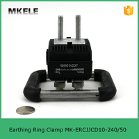 ipc insulated cable connector MK-ERCJJCD10-240/50 Earthing Ring Clamp 10KV Insulation piercing grounding