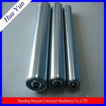 38mm dia spring loaded gravity stainless steel roller with galvanized steel end cap