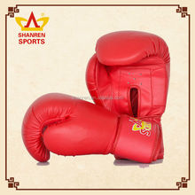 Wholesale custom PU Red boxing gloves sports uk