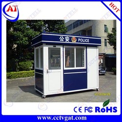 CE approved low cost security parking lot barrier police box & low cost mobile sentry box