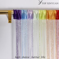 Beautyful multi-color string curtain fringe panel room divider/polyester string curtain/hanging curtain room divider