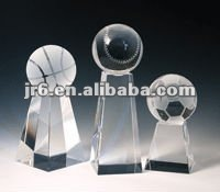 Beautiful Crystal Basketball Trophy with Base, Glass awards