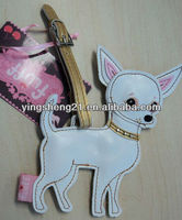 dog FLUFF LUGGAGE TAG suitcase ID travel bag vegan leather large